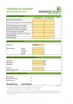 Fördermittelhöhe Berechnung BAFA Kältemittelumstellung