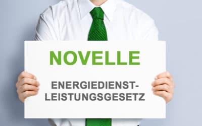 Novelle Energiedienstleistungsgesetz (EDL-G) in Kraft getreten