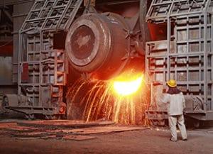 Fördermittel Hochofen Eisen- und Stahlindustrie