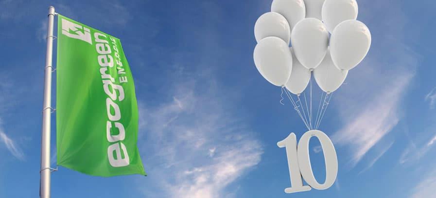 10 Jahre Jubiläum ecogreen Energie