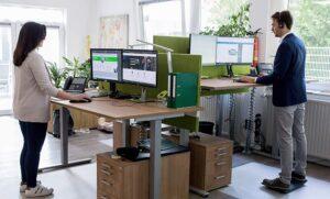 Stehboards und Balanceboards für das ecogreen Büro