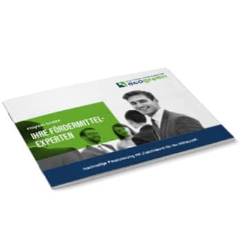 Unternehmensbroschüre ecogreen - Ihre Fördermittel-Experten